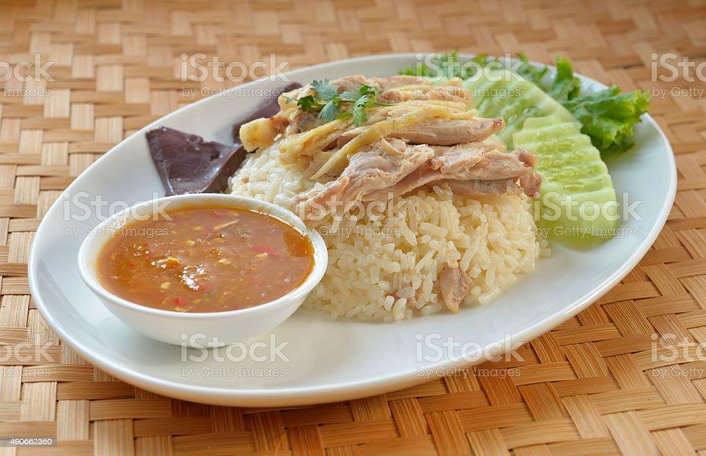 Para kurczak z ryżem (Hainan Chicken) zbiór zdjęć royalty-free