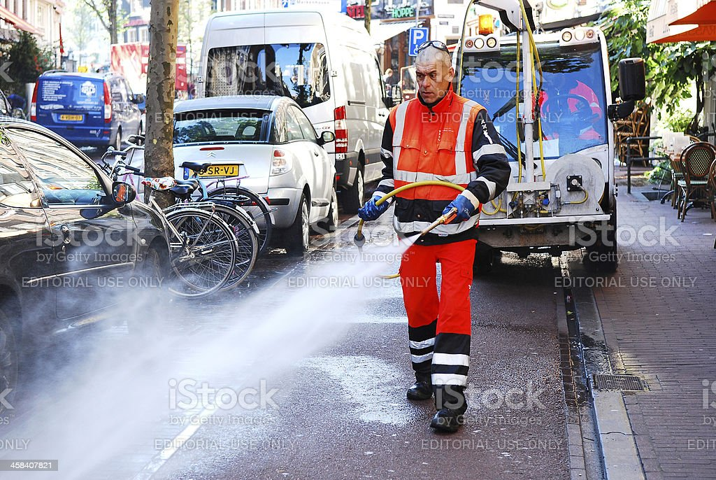 Steam cleaning royalty-free stock photo