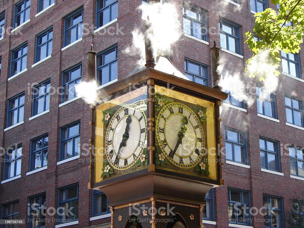 Steam clock in Vancouver, BC royalty-free stock photo