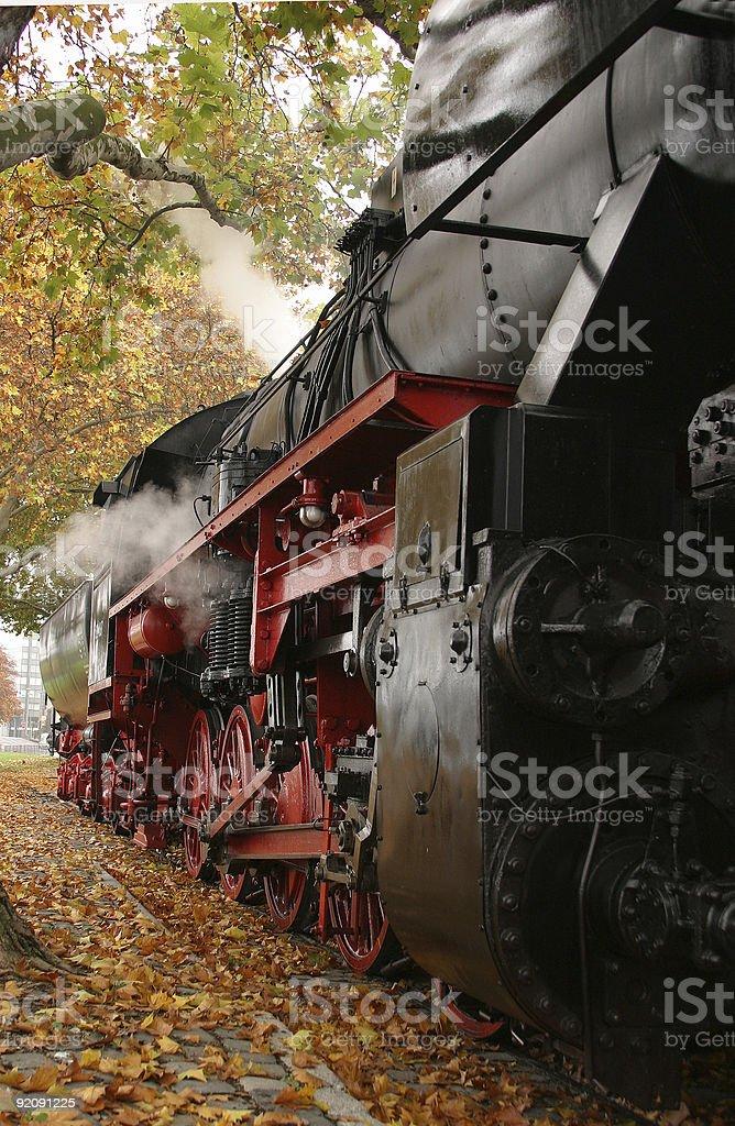 steam engine, Frankfurt stock photo