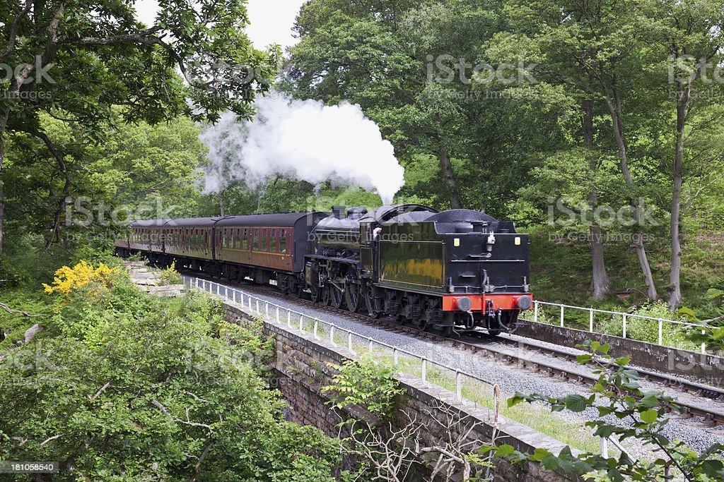 Steam Engine on North York Moors railway royalty-free stock photo