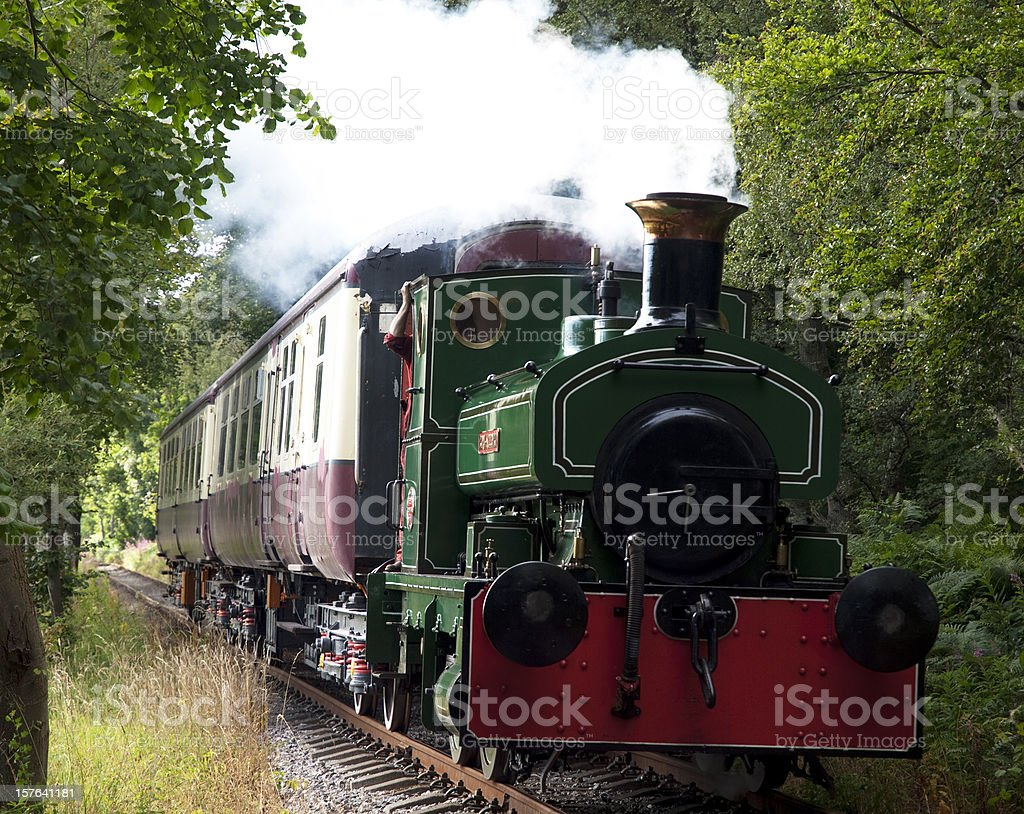 Steam Engine on the Deeside Railway stock photo