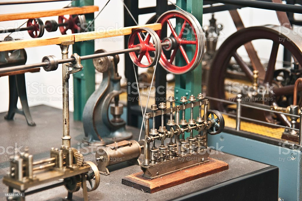 steam engine - Dampfmaschine stock photo