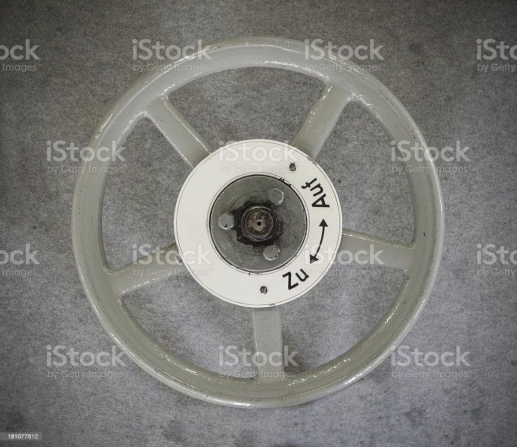 Steam Engine Valve Wheel royalty-free stock photo