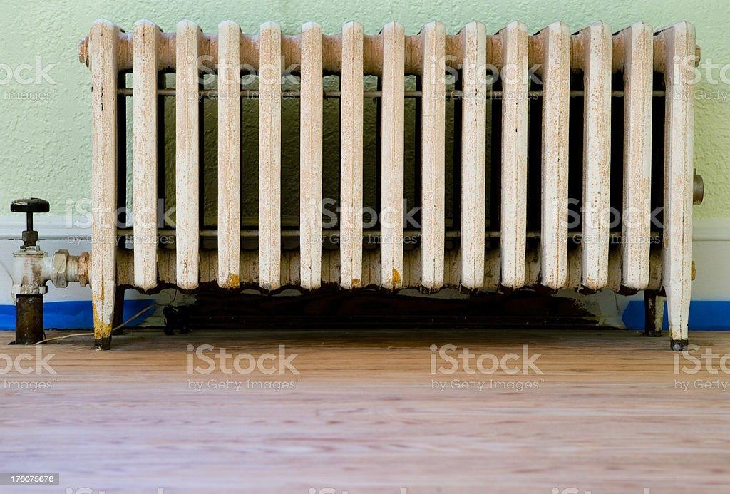 steam heat radiator stock photo