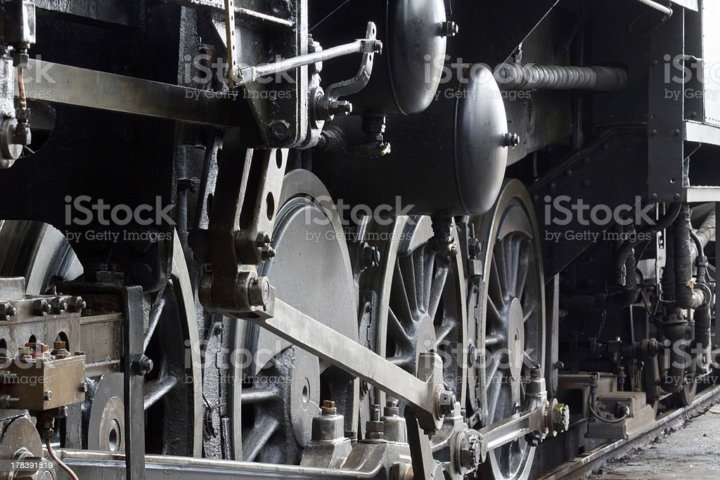 Steam locomotive detail royalty-free stock photo