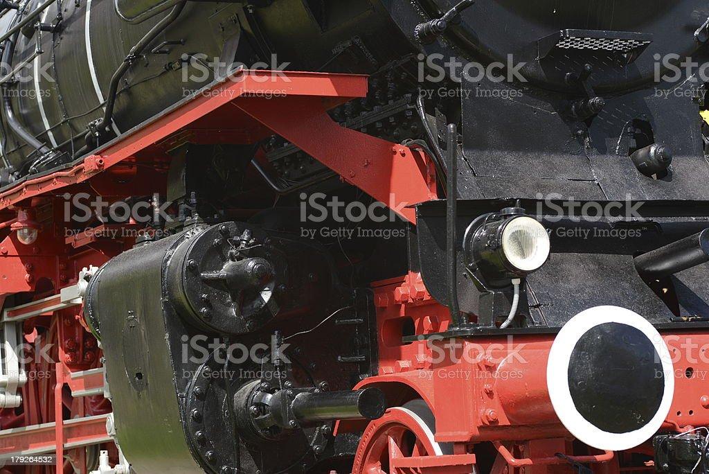 Steam Locomotive Details royalty-free stock photo