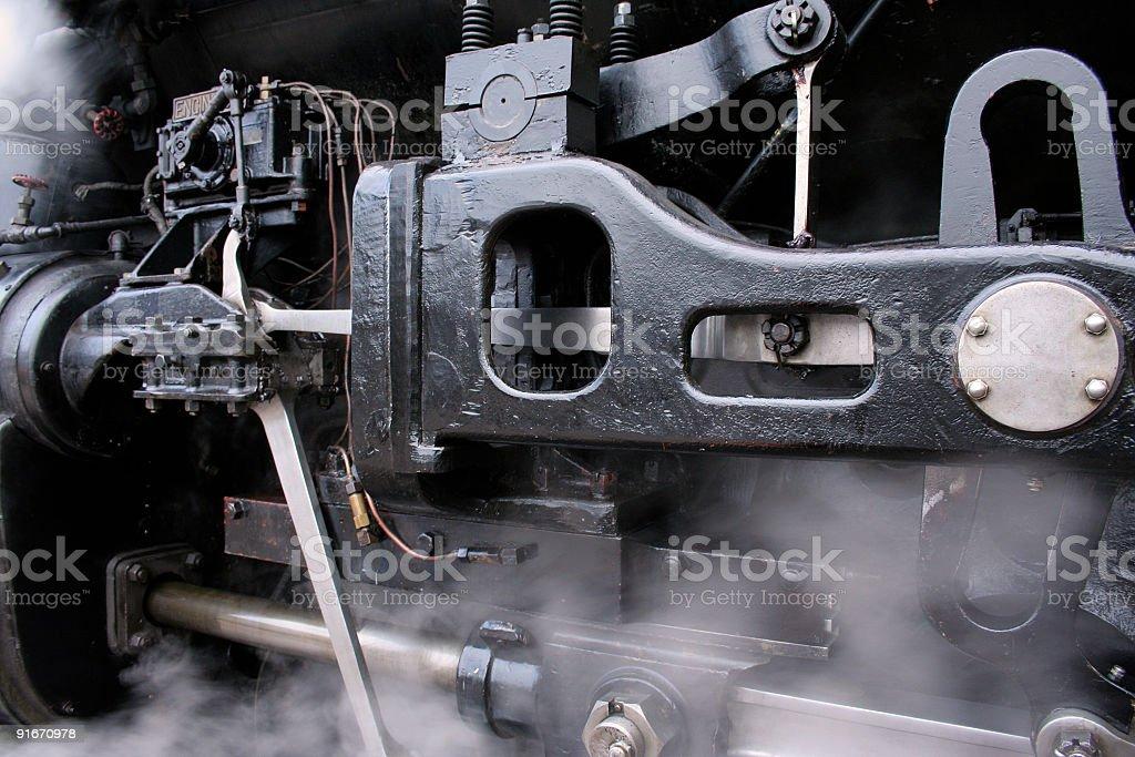 Steam Locomotive Drivetrain stock photo