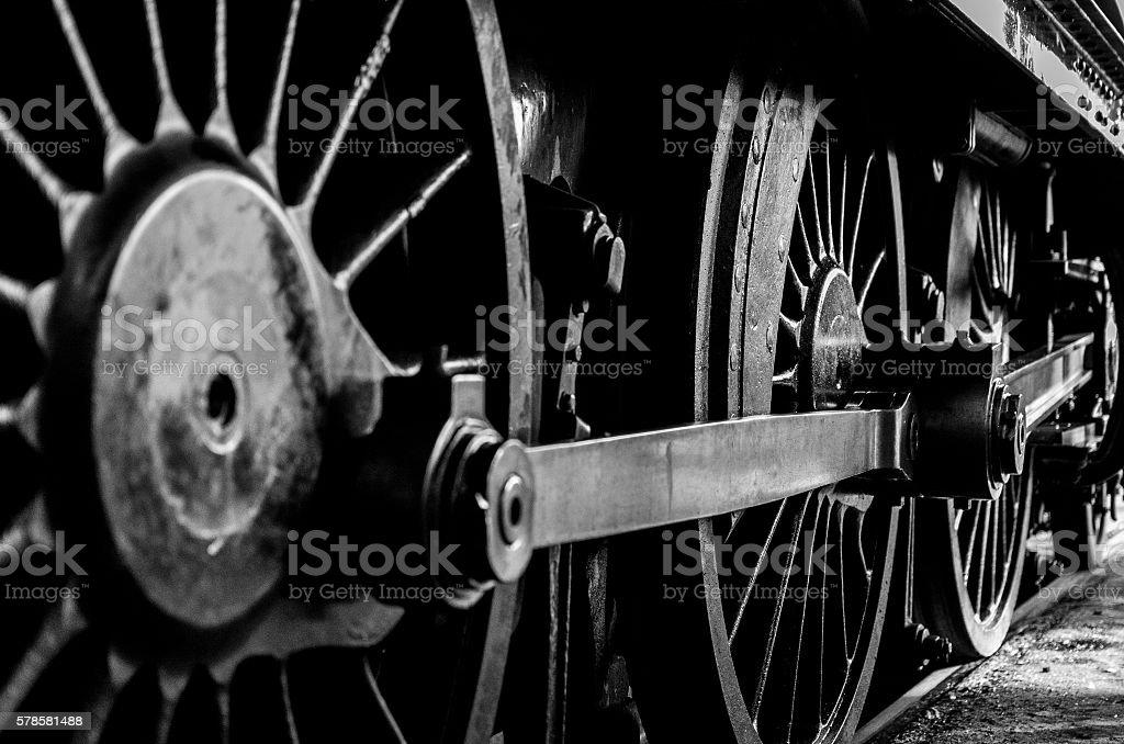 Steam Locomotive Driving Wheels royalty-free stock photo