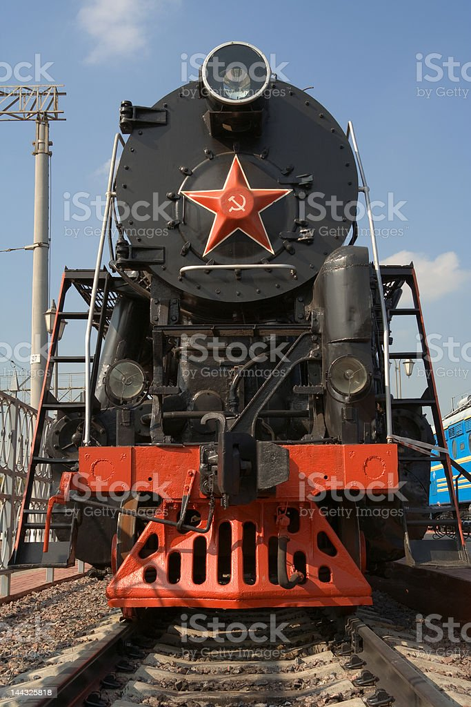 Steam locomotive 'L', Russia, 1954, Moscow miseum of railway royalty-free stock photo