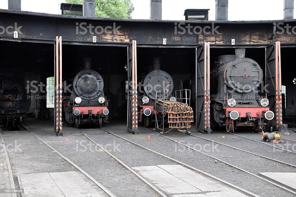 Steam locomotives royalty-free stock photo