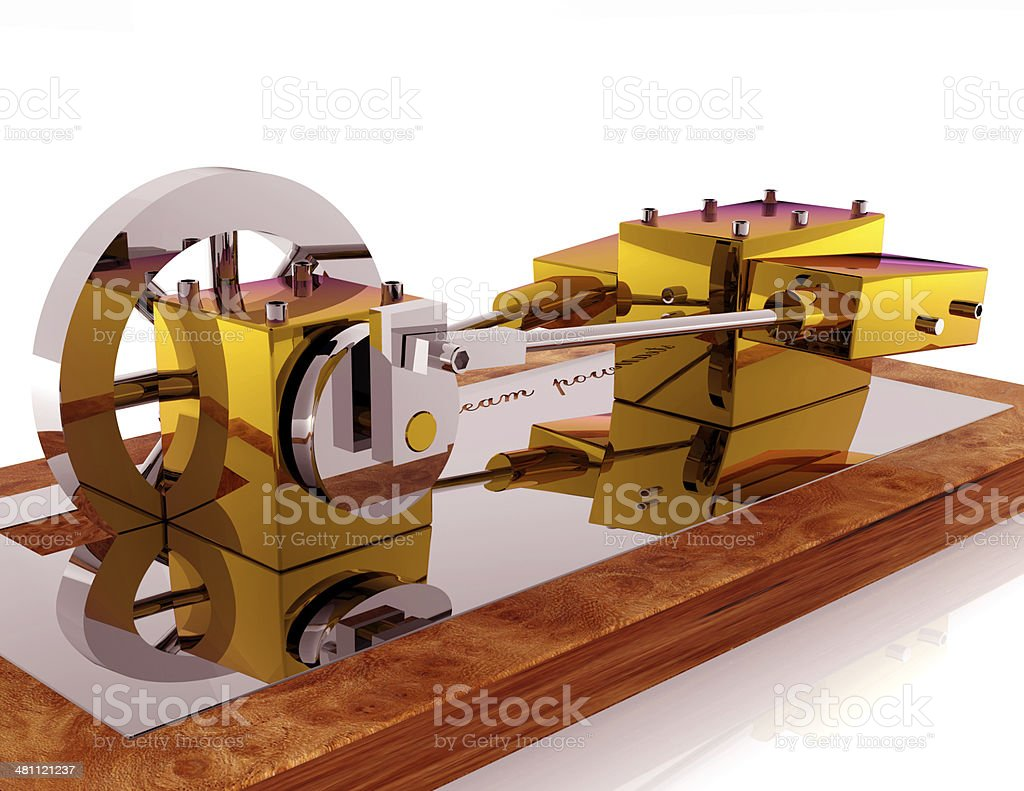Steam Model stock photo