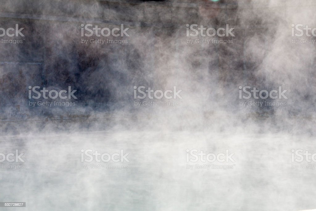 Steam off a Hot Spring stock photo