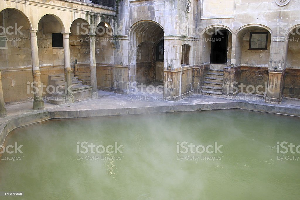 Steam off a Roman Bath stock photo