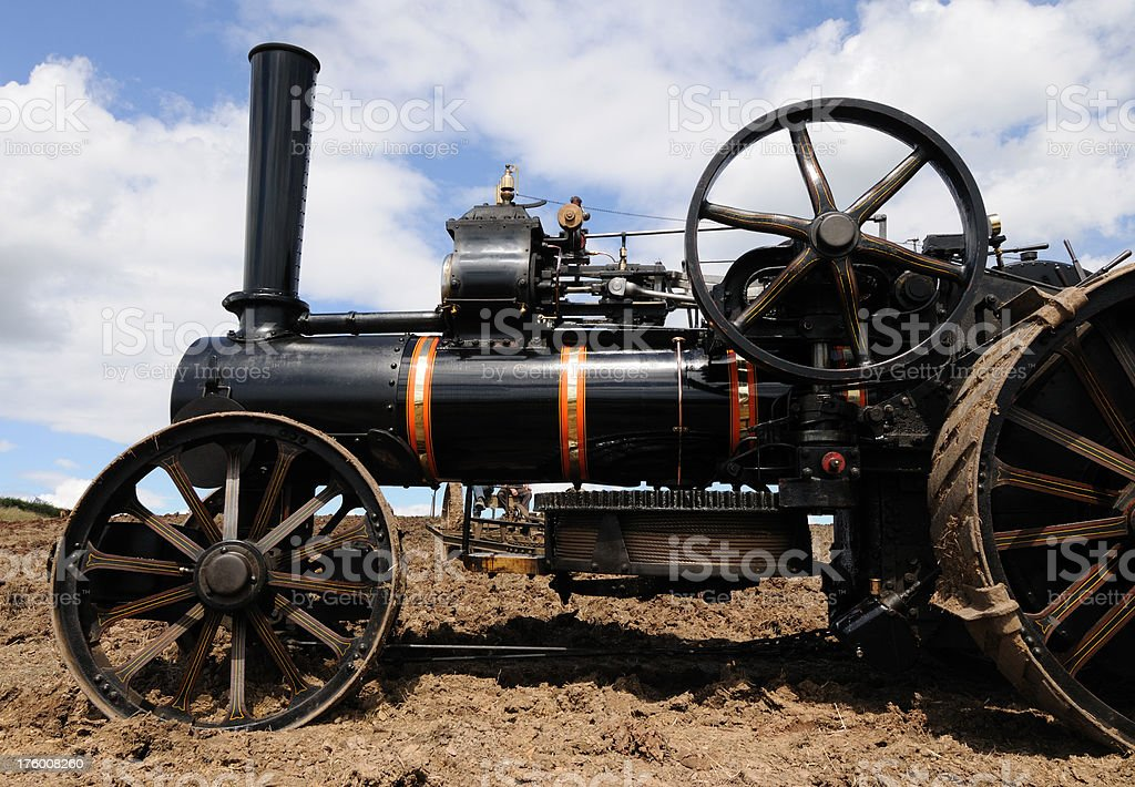 Steam Ploughing Engine stock photo