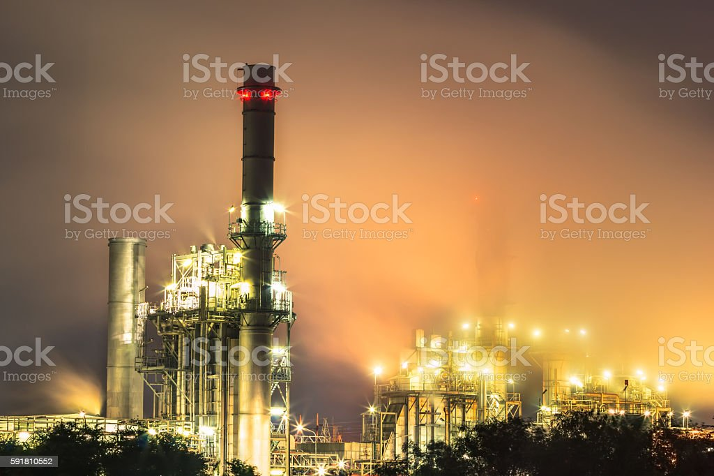 Steam power plant in thailand stock photo