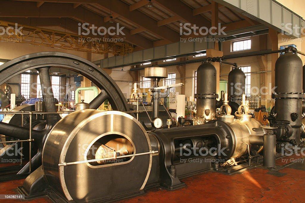 Steam powered pump stock photo