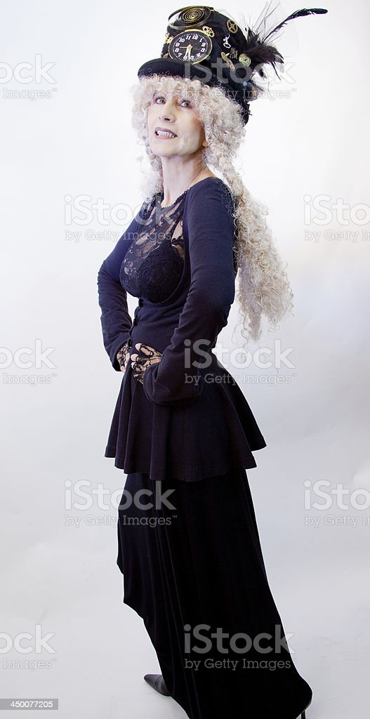 Steam Punk Female Fashion Model royalty-free stock photo