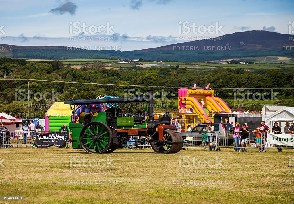 Steam Roller on display stock photo