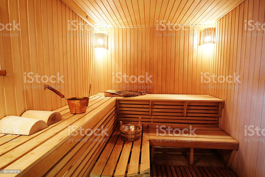 steam room in Russian bath stock photo