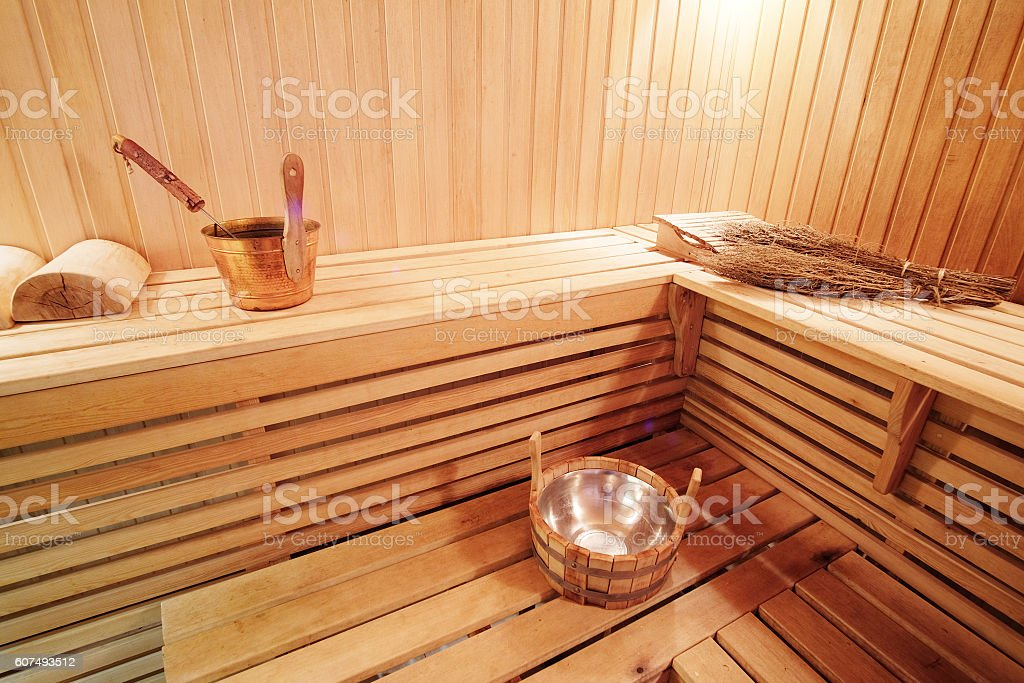 steam room in Russian bath stock photo
