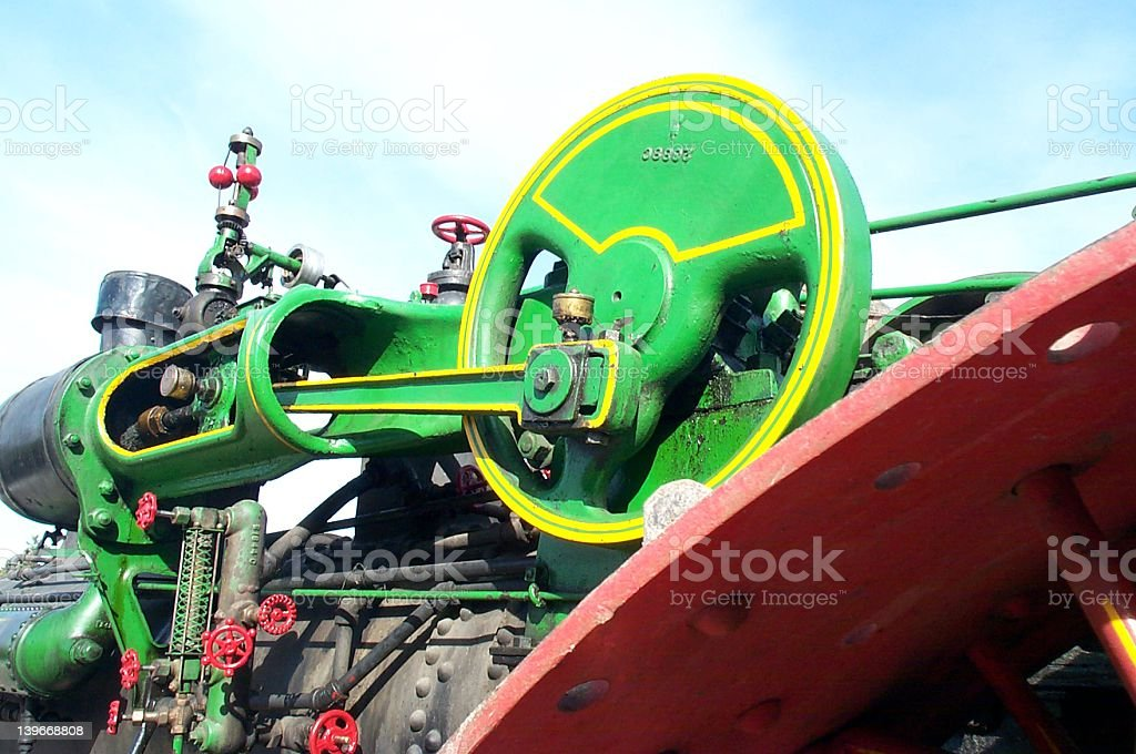 Steam Tractor Engine royalty-free stock photo