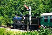 Steam train at Corfe.