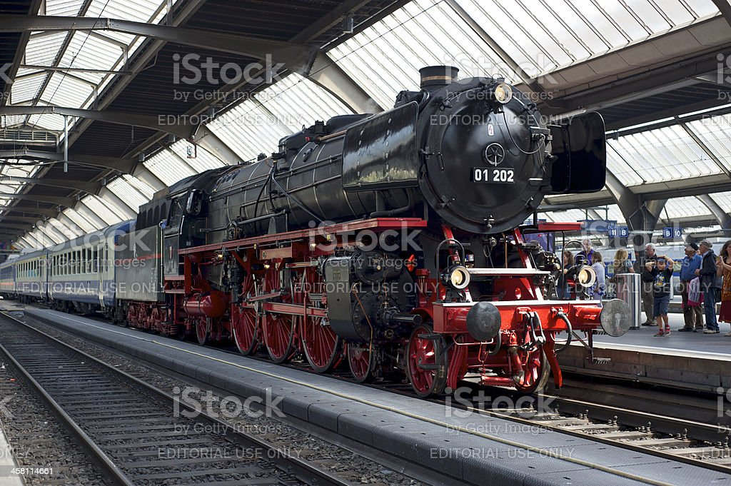 Steam train awaiting departure royalty-free stock photo