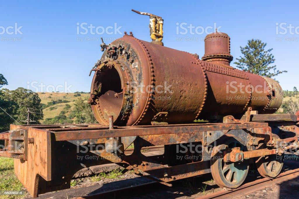 Steam Train Boiler Graveyard Station stock photo