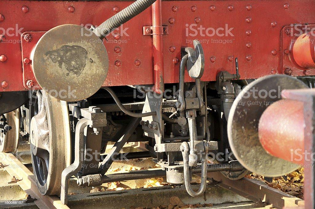 Steam Train Buffers royalty-free stock photo