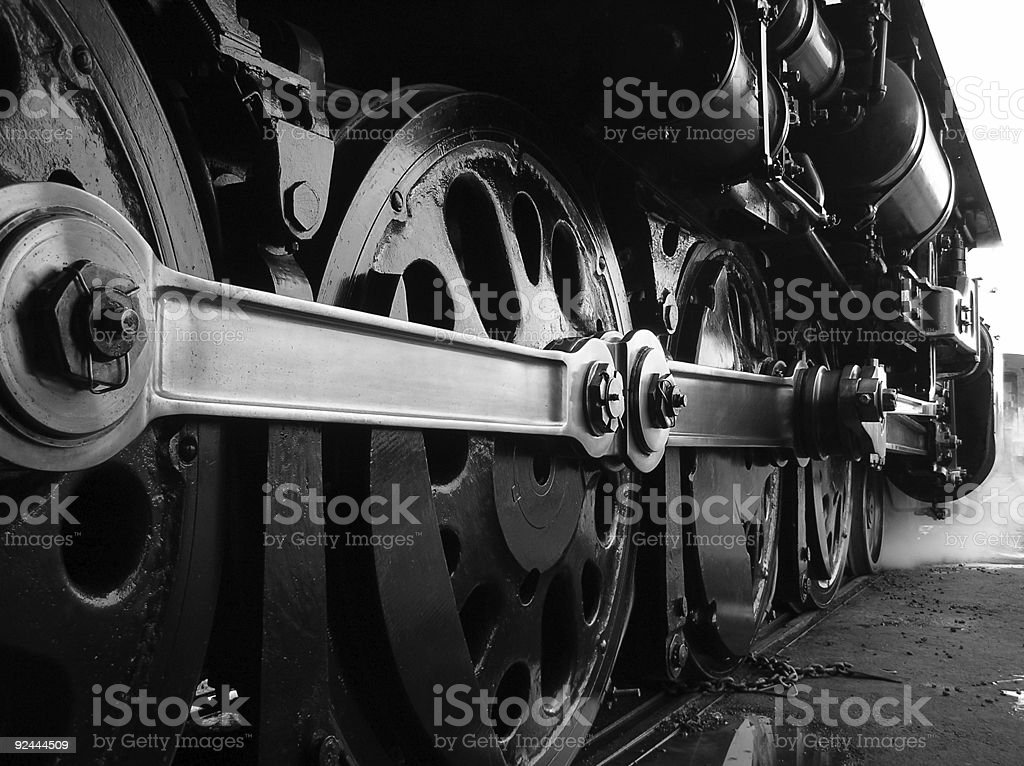 Steam Train Drive Wheels stock photo