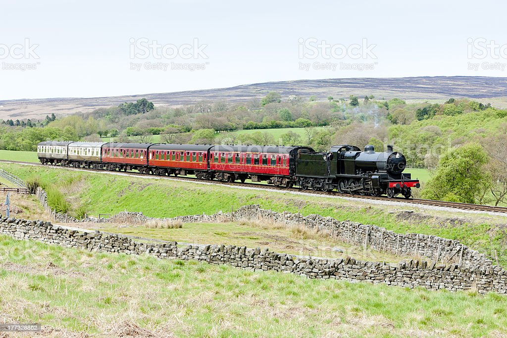 steam train, England royalty-free stock photo