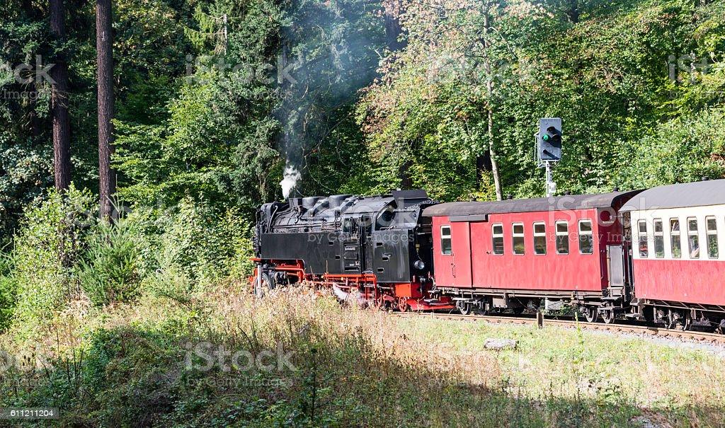 steam train from brocken to wernigerode stock photo