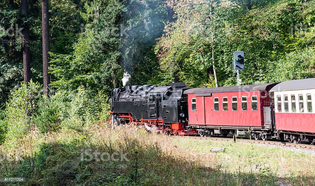 steam train from brocken to wernigerode stock photo