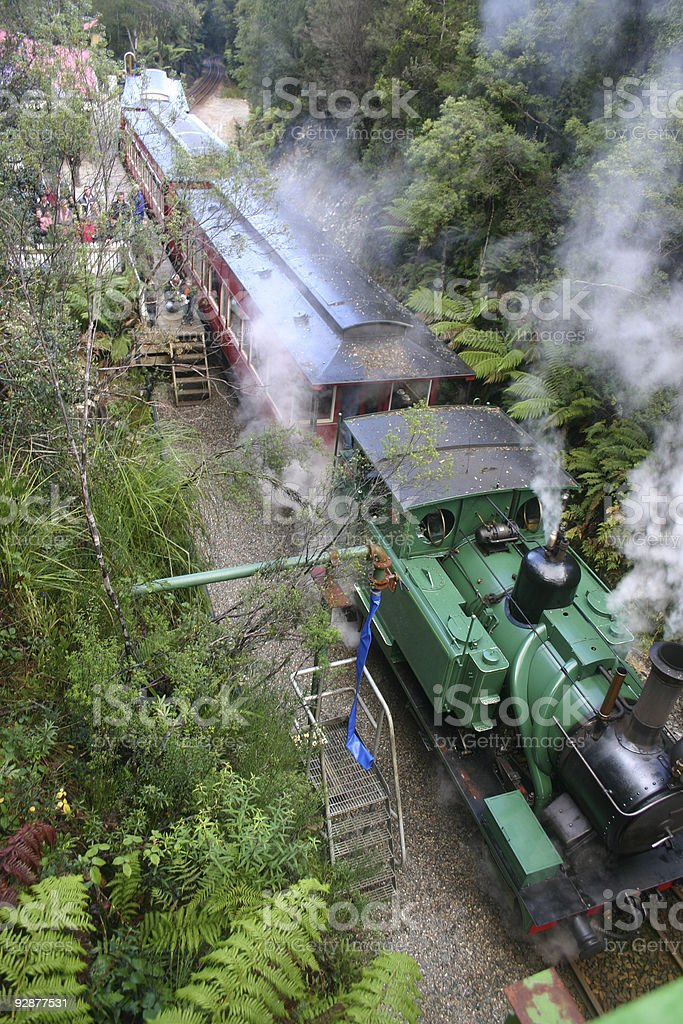 Steam Train in the Wilderness stock photo
