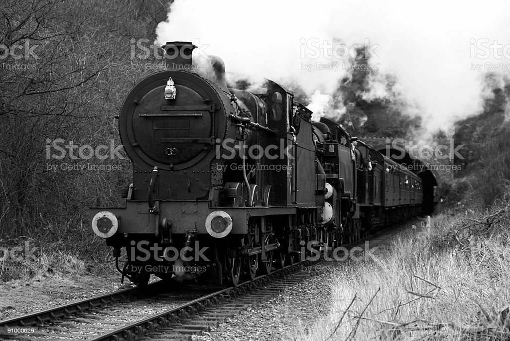 Steam Train Mono royalty-free stock photo