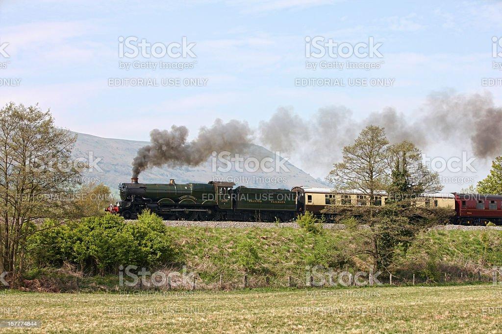 UK steam train on round Britain 9 day tour stock photo