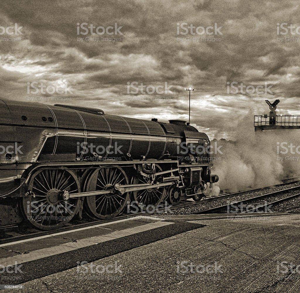 Steam train stock photo