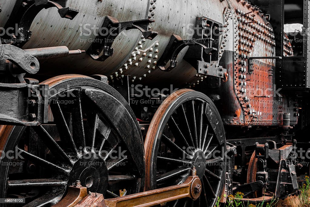 Steam Train Wear stock photo
