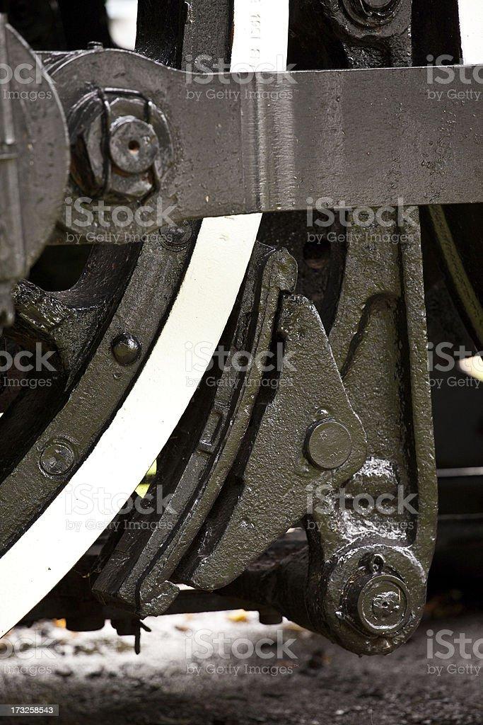 Steam Train Wheel Brake royalty-free stock photo