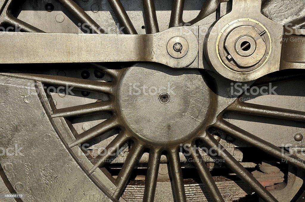 Steam Train Wheel stock photo