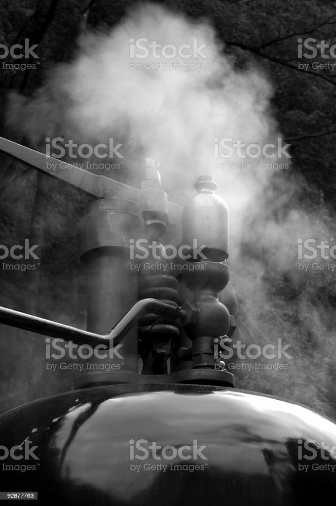 Steam train whistle stock photo
