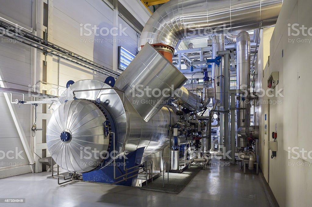 steam turbine condenser stock photo