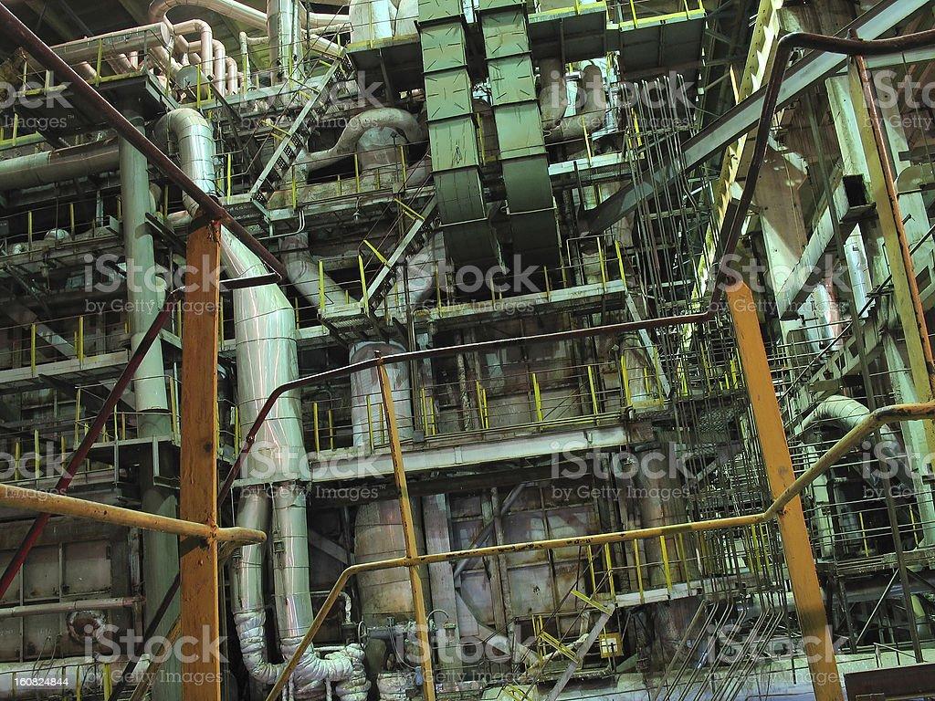 Turbina a vapor, máquinas, tubos, tubos, de potência foto de stock royalty-free