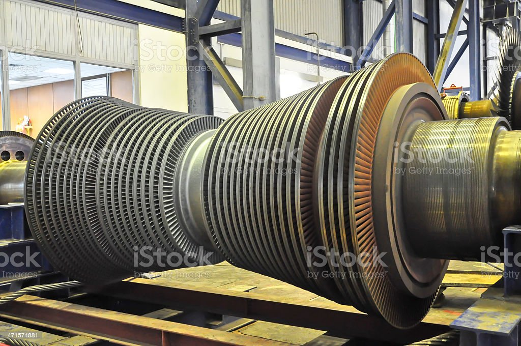 Steam Turbine of coal thermal power plant royalty-free stock photo