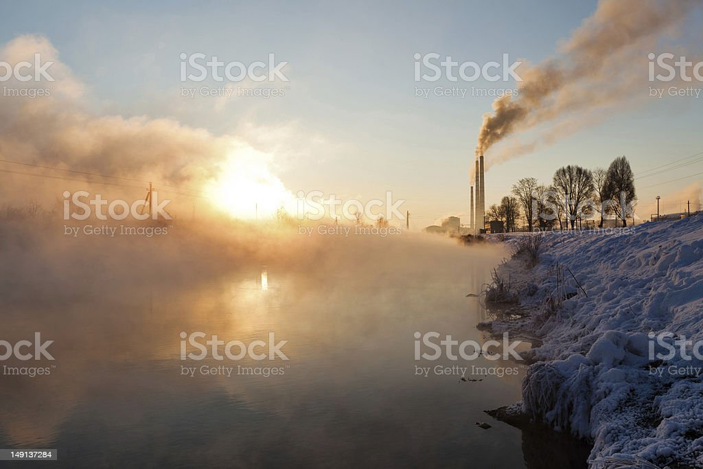 Steam up to the sky royalty-free stock photo