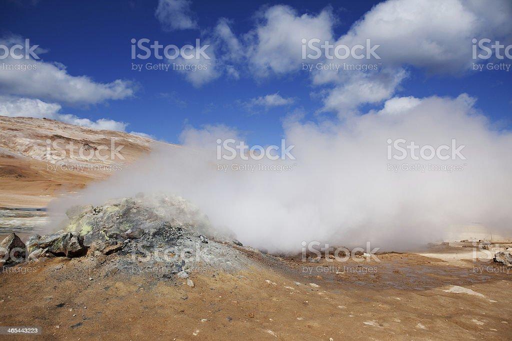 Steam Vent - Hverir Hot Springs, Iceland royalty-free stock photo