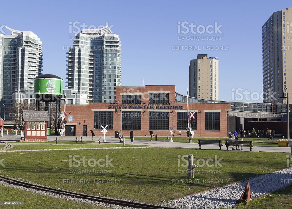Steam Whistle Brewing building stock photo