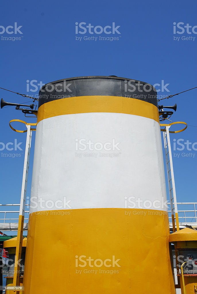 Steamboat chimney stock photo