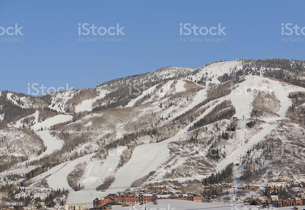 Steamboat, Colorado ski resort stock photo